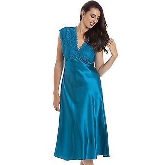 Camille CAM21715 Teal satin Chemise