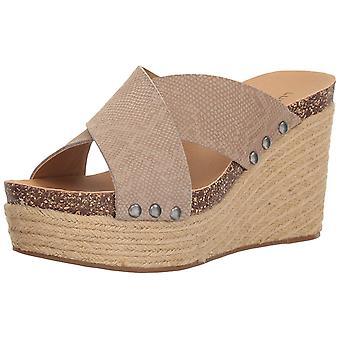 Heldig merkevare kvinners neeka åpen tå Casual Skyv sandaler