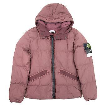 Stone Island 40223 Garment Dyed Crinkle Reps Ny Down Jacket Burgundy V0011