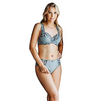 Guy de France 14908-5 Women's Grey Embroidered Non-Padded Underwired Cup Bra
