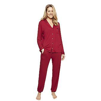 Cyberjammies 1337 kvinnor ' s Nora Rose Violet Burgundy röd modal Pyjamas Set