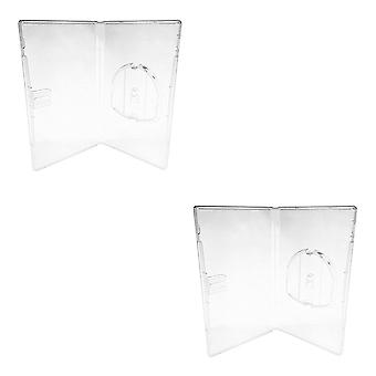 Compatible replacement retail game disc storage case for sony psp umd - 2 pack clear