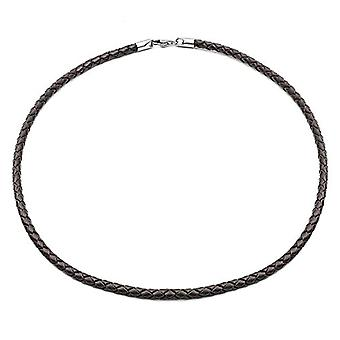 Tribal Steel 510mm brown leather neckline with musket closure