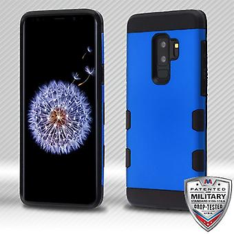 MYBAT Titanium Dark Blue/Black TUFF Trooper Hybrid Protector Cover for Galaxy S9 Plus