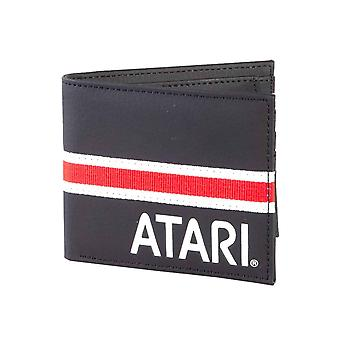 Atari Wallet Classic Logo Webbing Stripe new Official Gamer Black Bifold