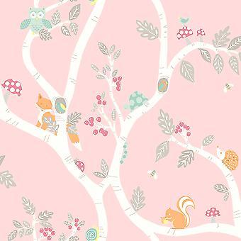 Woodland Adventure wallpaper Pink Holden 12492