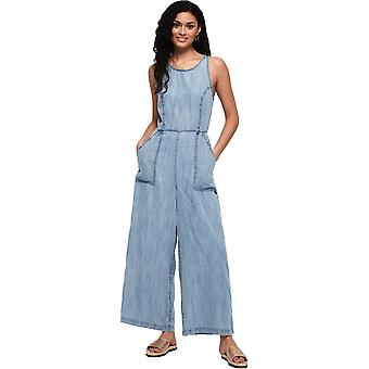 Superdry Ingrid Culotte Jumpsuit Light Blue 92