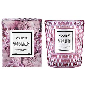 Voluspa Roses Boxed Textured Glass Candle Rose Petal Ice Cream 184g