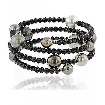 Luna-Pearls Beaded Bracelet TahitiPerlen 7-11 mm Spinel 2035936