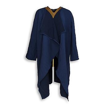 H av Halston kvinner ' s Plus foss krage jakke blå A274566