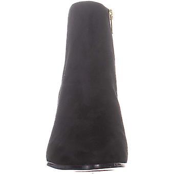 Calvin Klein Damen's Fisa Ankle Bootie, Black Kidsuede, 9,5 M