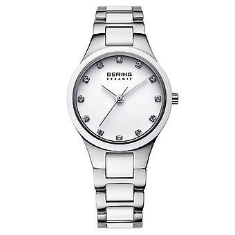 Bering 32327-754 Women's Silver/White Two Tone Wristwatch