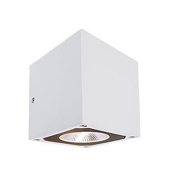 LED exterieur wand lamp Cubodo II dubbel wit 108x115mm 3000K 14 W
