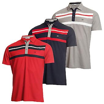 Calvin Klein Golf Mens Âncora Wicking Camisa Polo manga curta
