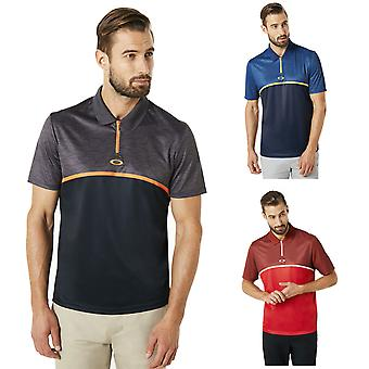 Oakley Hombres SS Color Block Camou Zip Placket Golf Polo Camisa