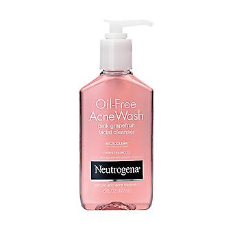 Neutrogena oil-free acne wash facial cleanser, pink grapefruit, 6 oz