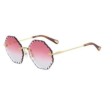 Chloe Rosie CE143S 823 Gold/Coral Gradient Sunglasses