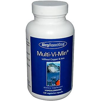 Multi-Vi-Min without Copper & Iron 150 Veggie Caps - Allergy Research Group