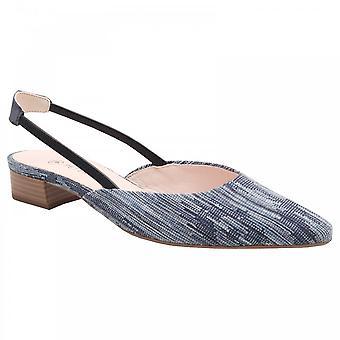 Peter Kaiser Caster Blue Solid Heel Sandale