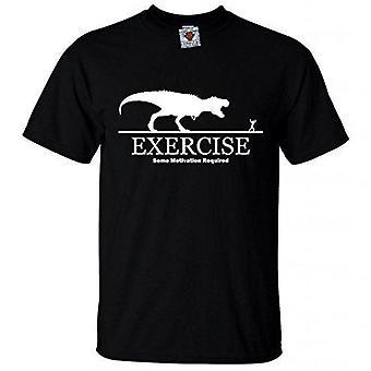 Uomini's esercizio; una certa motivazione richiedeva t-shirt.