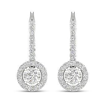IGI-Certified-decouer-1/2-CT-TDW-Diamond-10k-White-Gold-Diamond-Frame-Drop-Earrings-(h-i,-i2)