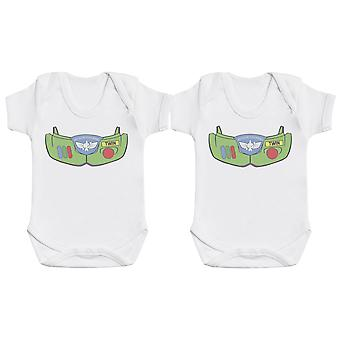 Space Armour Twin Boys, Baby Gift, Baby Boy Gift, Baby Girl Gift, Baby Boy Bodysuit, Baby Girl Bodysuit