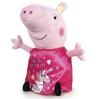 Peppa Pig Greta Pig 100 % Einhorn große Kuschelweichmacher weich 45cm rosa