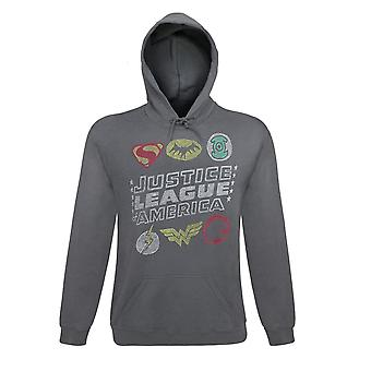 Justice League Classic Symbole Men's Hoodie