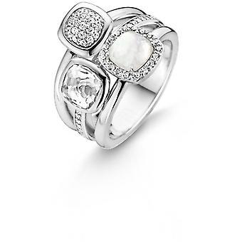 Anillo Ti sento 12061MW - anillo piedra trilogía mujer