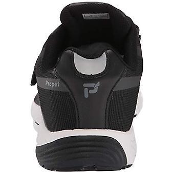 Propet Men's One Strap Sneaker, Black/Dark Grey, 11 5E US