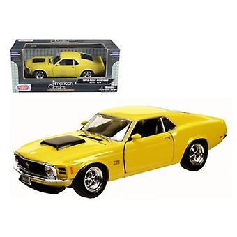 1970 Ford Mustang Boss 429 Yellow 1/24 Diecast Model Car by Motormax