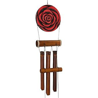 Red Rose Dots Harmony Bamboo Wind Chime
