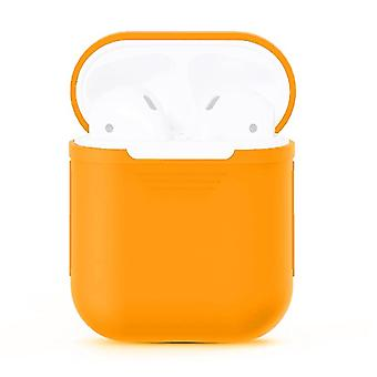 For Apple Airpods Storage Bag Orange Silicone Protective Box