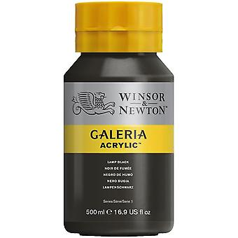 Winsor et Newton Galeria Acrylic Paint 500ml - Lamp Black