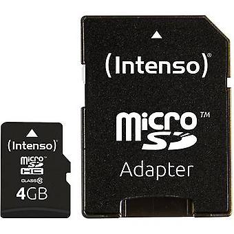 Intenso høy ytelse microSDHC kort 4 GB klasse 10 inkl SD kortet