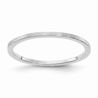 10kw 1.2mm Flat Satin Stackable Band Ring Jewelry Gifts for Women - Ring Size: 4 to 10