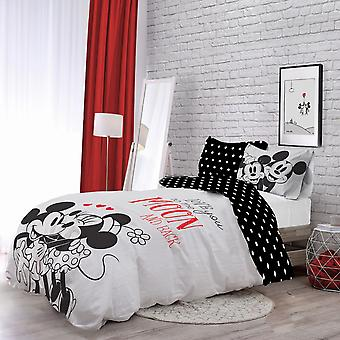 Minnie And Mickey Love You To Moon Bedding Set