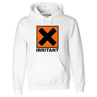 Réalité glitch irritant symbole mens hoodie