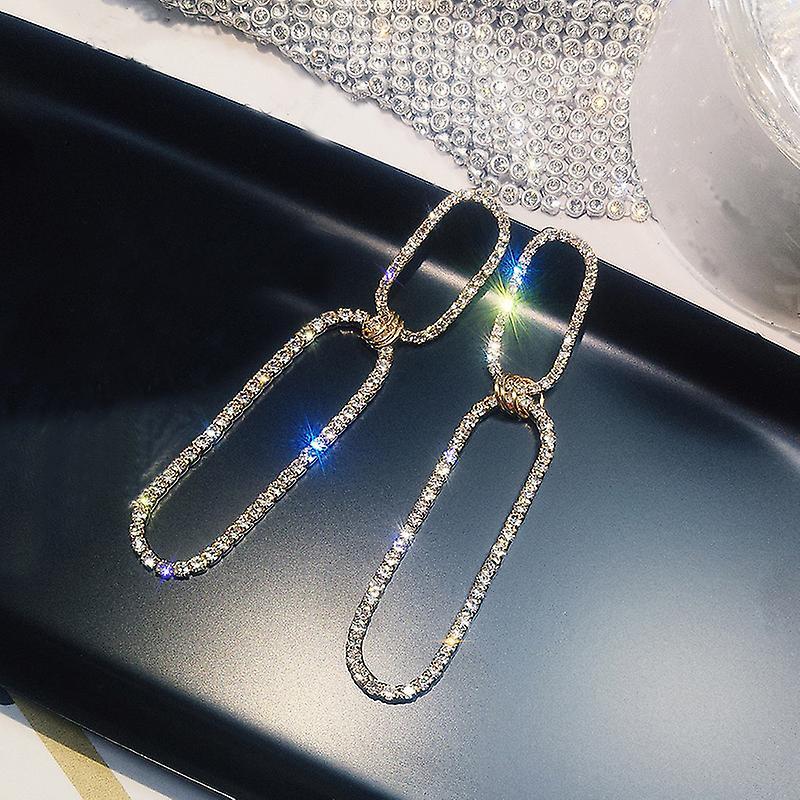 Gold Semi Square Hoop Earrings