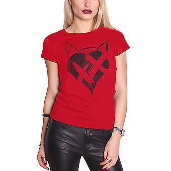 חולצה רשמית T החתול האביר לב כהה לוגו DC הקומיקס רזה בכושר נשים