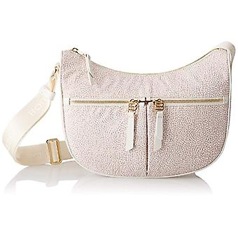 Borbonese Moon with Pockets Bag Woman Ivory (Coco) 28x24x8 cm (W x H x L)