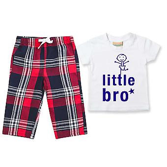 Little Bro Tartan Trouser Pyjamas