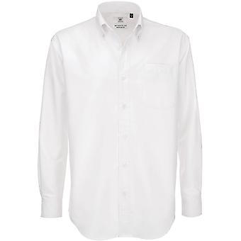 B&C Mens Oxford Long Sleeve Shirt / Mens Shirts