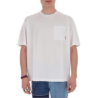 Acne Studios Bl0175optikweiß Herren's weiße Baumwolle T-shirt