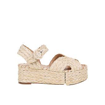 Paloma Barceló Layna Women's Beige Canvas Sandals