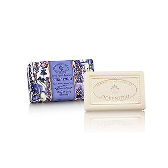 Saponificio Artigianale Fiorentino Handmade Soap - Violets - Lovingly Wrapped in Wraps 250g