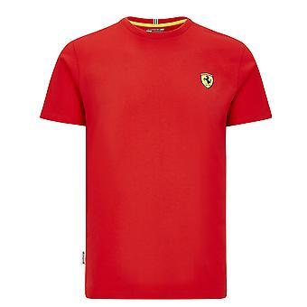 Scuderia Ferrari Men's Camiseta de Escudo Pequeño Rojo ? 2020