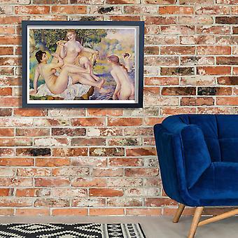 Pierre de August Renoir a banhistas Poster impressão giclée