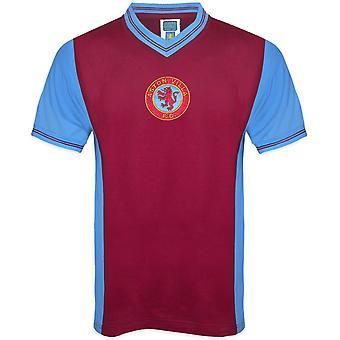 Aston Villa FC Oficial De Presente de Futebol Mens 1982 Retro Home Kit Shirt Claret