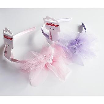Diadem with tulle flower